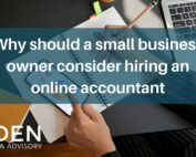 Why should a small business owner consider hiring an online accountant
